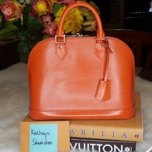 LOUIS VUITTON ALMA PM PIMENT ORANGE SILVER BAG
